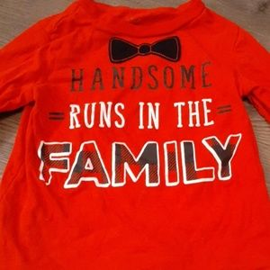 """""""Handsome runs in the family"""" long sleeve shirt"""